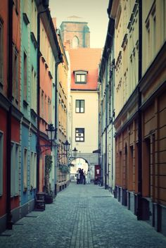 Wroclaw - one of the city town square's alley shortcuts...