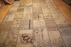 Rug Patchwork Vintage Anatolian Carpet Natural by AnatolianSpindle