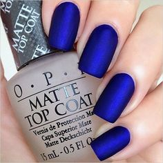 blue matte wedding nails