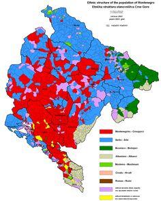 Montenegro Ethnic Map (census 2003)