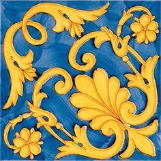 ieranto 20x20 Tile Art, Mosaic Tiles, Painted Trays, Hand Painted, Islamic Motifs, Mediterranean Tile, Antique Tiles, Truck Art, Blue Tiles