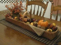 Love the basket and it makes a Beautiful fall centerpiece