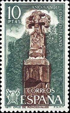 Stamp: Compostela Holy Year (II) (Spain) (Compostela Holy Year) Mi:ES…