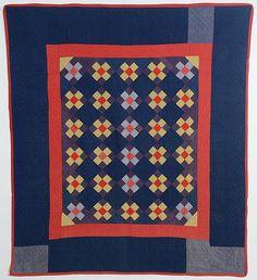 Ohio Amish Nine Patch Quilt: Circa 1920 Antique Quilts, Vintage Quilts, Hexagon Patchwork, Nine Patch Quilt, Amish Quilts, Selling Antiques, Quilt Top, Quilt Making, Art Decor