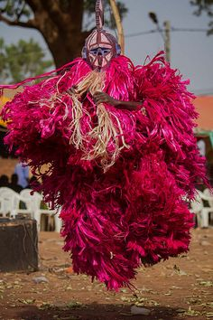 The festival of masks in Burkina Faso including masks, leaves, fiber masks, feather masks, white masks, masks with straw masks skins