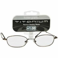 667d90638794 Foster Grant Titanium Wire Premium Reading Glasses 1.00 by foster grant.   8.99. Thin