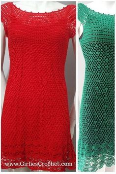 Gina dress is a free crochet pattern for beginners that used fine thread and US-1 / 2.75MM hook.