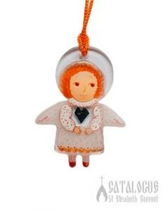 White Angel Glass Pendant.  $12.00. #CatalogOfGoodDeeds #CatalogOfStElisabethConvent #gift #present #giftideas #decor #craft #woodencraft #ceramic #clay #bell #ecotoy #decoration #feast #giftsfriend #uniquegifts #homemadegifts