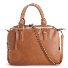 Cognac compartment satchel bag