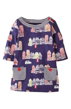 Mini Boden Print Tunic Top (Toddler Girls) | Nordstrom – print mixing
