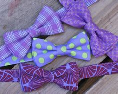 Purple Bow Ties Lavender Ties Lavender Bow Ties by littlevys