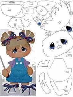 *FELT ART ~ Little Girl Template - Use for paper piecing, foam, felt. >Lots of templates on this site! Scrapbook Patterns, Scrapbook Embellishments, Paper Piecing Patterns, Felt Patterns, Scrapbooking Layouts, Scrapbook Paper, Foam Crafts, Paper Crafts, Punch Art
