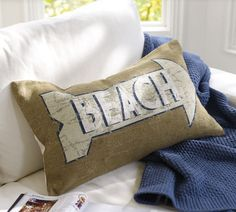 Twigg studios: Pottery Barn beach pillow knock off tutorial