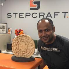We had a great visit today with Roberto Rios of RVision. Nice to meet you in person and being inspired by your #STEPCRAFT #CNC creations. #woodworking #wood #woodenart #woodcarving #woodgames #gifts #giftsforher #giftsforhim #create #creating www.stepcraft.us