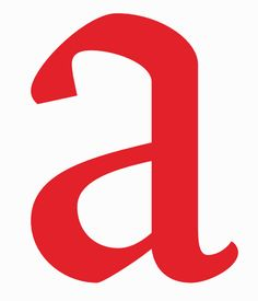 Espinosa Nova #letter 'A'. Nova is a revival of the font types created in the 16th C by Antonia de Espinosa.