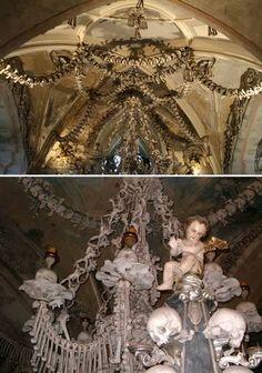 Декорации из РЕАЛЬНЫХ человеческих костей.