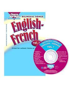 Take a look at this Bilingual Songs: English-French Vol. 1 CD & Lyrics Book by Sara Jordan Publishing on #zulily today!