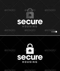 Buy Secure Housing - Logo Template by furnace on GraphicRiver. Secure Housing Fully Editable AI, EPS Full Color and Black and White Versions CMYK Print Ready Featured on Creat. Hotel Branding, Symbol Logo, Black Dark, Black And White, Logo Templates, Lock Logo, Symbols, Letters, Logos