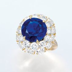 AN EXTREMELY RARE SAPPHIRE AND DIAMOND RING LOT 2036 SALE 3428 PRICE REALIZED HK$19,160,000 ($2,481,316) ESTIMATE HK$12,800,000 - HK$18,000,000 ($1,658,998 - $2,332,966) Sale Information SALE 3428 — HONG KONG MAGNIFICENT JEWELS 2 June 2015 Hong Kong Lot Description AN EXTREMELY RARE SAPPHIRE AND DIAMOND RING Set with a circular-cut sapphire weighing approximately 10.33 carats, within a brilliant-cut diamond two-tiered surround, extending to the quarter-hoop, mounted in 18k gold, ring size…