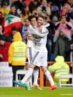 James and Ramos celebrating Ramos' goal!