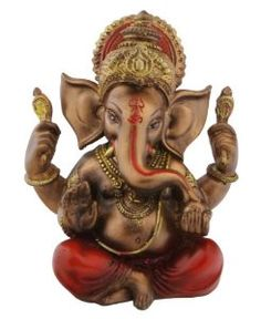 Hand Painted Seated Ganesh Statue,  Price:	$32.00 & FREE Shipping. Details  Only 4 left in stock.