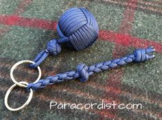http://www.paracordist.com Part III of the #paracordist   #paracord  monkeys fist #knots keychain video! #howto tie the loop #knot