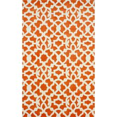 nuLOOM Handmade Modern Lattice Trellis Orange Rug (5' x 8') | Overstock.com Shopping - The Best Deals on 5x8 - 6x9 Rugs