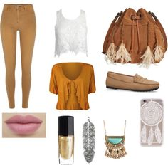 Pocahontas everyday look by audrey1936 on Polyvore featuring moda, WearAll, Sans Souci, River Island, Patricia Nash, Aéropostale, Thomas Sabo, Lancôme and plus size clothing