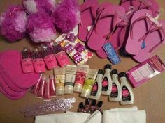 mentioned their spa party favor goodie bags so i have to show x 480 110 kb jpeg x Girls Slumber Party Ideas Wallpaper Lila Party, Spa Day Party, Spa Party Favors, Kids Spa Party, Sleepover Birthday Parties, Girl Sleepover, Pamper Party, 8th Birthday, Birthday Ideas