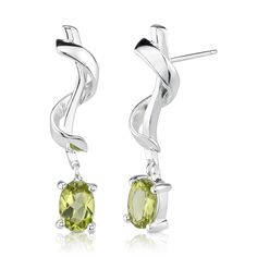 Peora.com - 1.5 cts Oval Cut Peridot Sterling Silver Earrings se1710, $24.99 (http://www.peora.com/1-50ct-oval-peridot-earrings-style-se1710/)