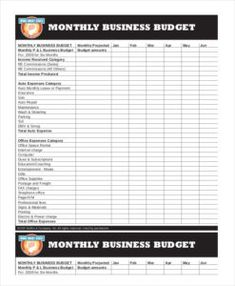 Household Monthly Budget Template  Yb    Monthly