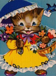 Vintage 1954 For My Friend's Birthday Greetings Card (B2)