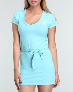 Luxirie By Lrg Women Ladies Dress - Dresses. The Ladies Dress from Luxirie by LRG features: V-neck design Screen print logo applique on left-chest and left-sleeve Self-tie belt at waist True to size fit, with stretch Model is wearing size S. Price: $5.19