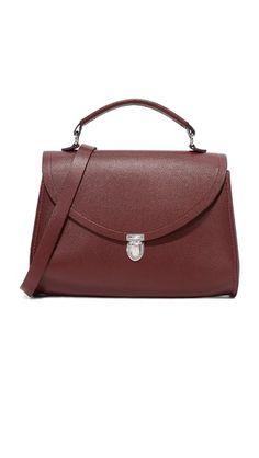Oxblood Saffiano Cambridge Satchel Poppy Bag