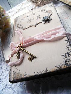 Wedding Guest Book Unique And Vintage Style Shabby Chic Cream