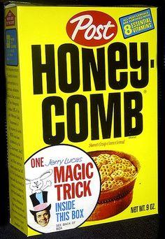 1973 Honey-Comb Cereal Box - Magic Trick