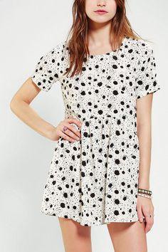 d.RA Silky Dalmation Babydoll Dress #urbanoutfitters