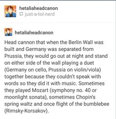Germany & GDR!Prussia headcanon. This is beautiful. :')