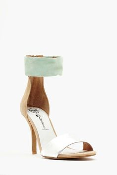26956866ada Mint and silver and buff Jeweled Shoes