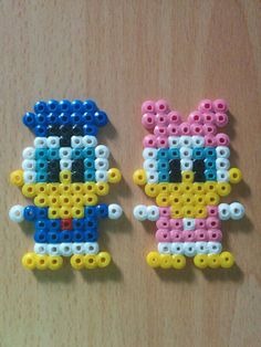 Donald and Daisy (hama/perler beads)