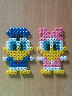 Donald and Daisy (hama/perler beads)