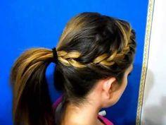 come fare treccia francese laterale - acconciatura Jennifer Morrison - con coda…