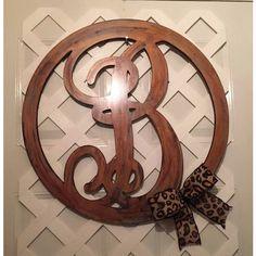 Monogram Door Hanger ($60) ❤ liked on Polyvore featuring home, home decor, wreath, door hanger, monogram door wreath, door wreaths, birthday wreath and vine wreath