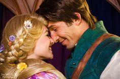 Rapunzel & Flynn Rider being adorable