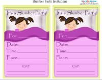 Free Printable Slumber Party Invitation Party Ideas Pinterest - Invitations for sleepover party templates