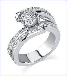Gregorio 18K WG Diamond Engagement Ring. R-412