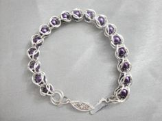 Pearl Caged Chainmaille Bracelet by BeadingMyWay on Etsy, $10.00