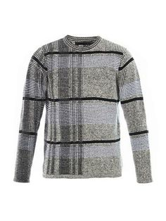 Check-knit cotton-blend sweater   Alexander Wang   MATCHESFASH...