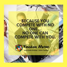 Compete only with yourself.  #seo #thursdayquote #businessowner #smallbusinessowner #entrepreneurmindset #businessminded #personalbranding #personaltrainer #lifecoach #coach #teacher #entertainer #guru #selfemployed #biz #businessidea #workfromhomedad #workfromhomemom #workfromanywhere #workfromhomelife #momboss #dadboss #mompreneur #dadpreneur Thursday Quotes, Competitor Analysis, Work From Home Moms, Personal Branding, Personal Trainer, Seo, Teacher, Social Media, Entertaining