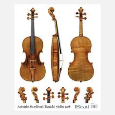 """Antonio Stradivari Violin """"Dancla"""" 1708"""